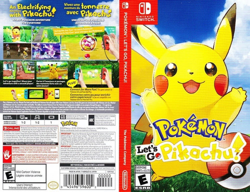 juego nintendo switch pokemon let's go pikachu fisico