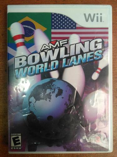 juego nintendo wii amf bowling world lanes