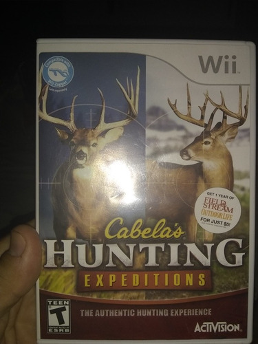 juego nintendo wii cabelas hunting expeditions