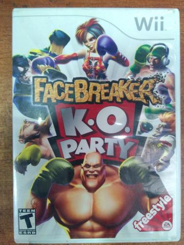 juego nintendo wii facebreaker k.o. party