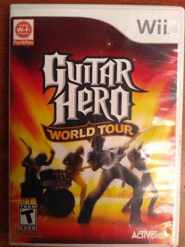 juego nintendo wii guitar hero world tour
