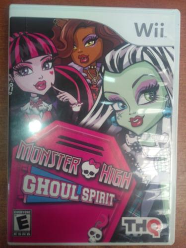 juego nintendo wii monster high goul spirit