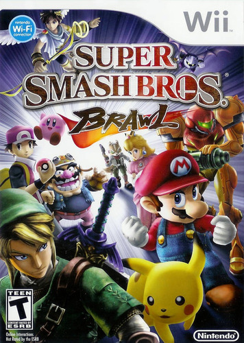 juego nintendo wii smash bros brawl - refurbished fisico