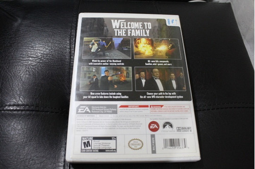 juego nintendo wii the godfather el padrino