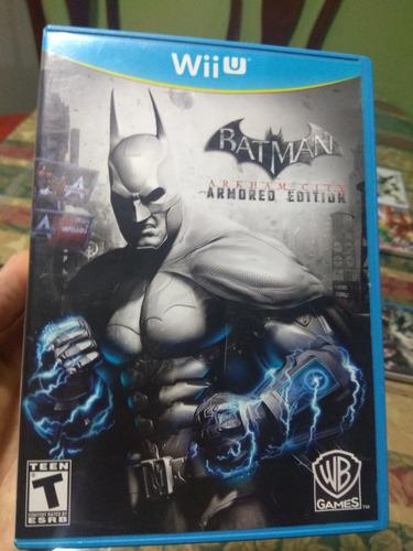 juego nintendo wii u batman arham city armored edition