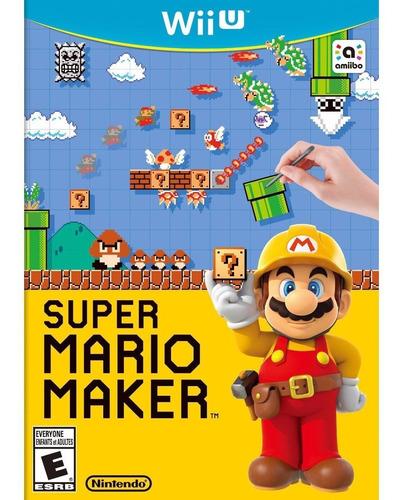 juego nintendo wii u super mario maker - box original fisico