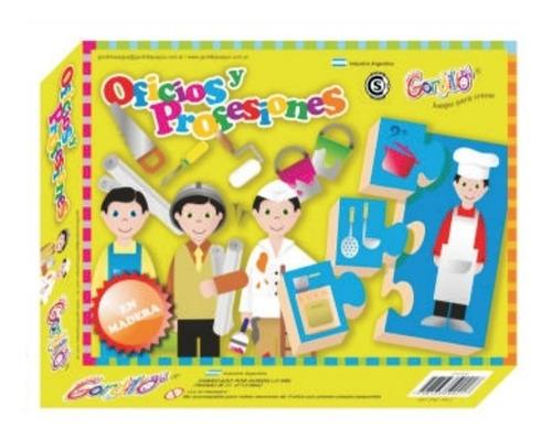 juego oficios y profesiones en madera gordillo, diverti toys