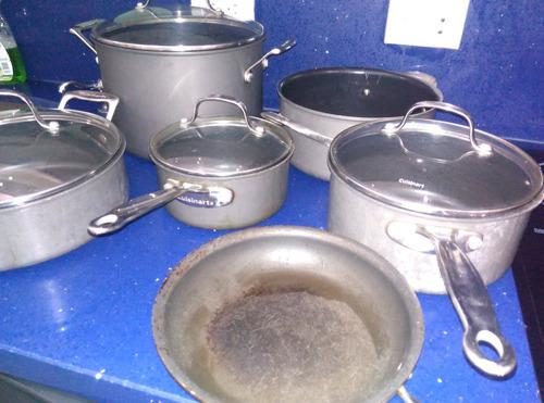 juego  ollas cuisinart  original10 piezas usadas buen estado