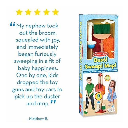 juego original de limpieza de 6 piezas - melissa y doug