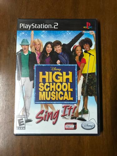 juego original de ps2: disney high school musical sing it!
