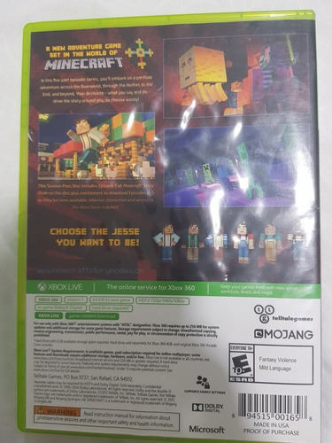 juego original minecraft story mode- season pass disco