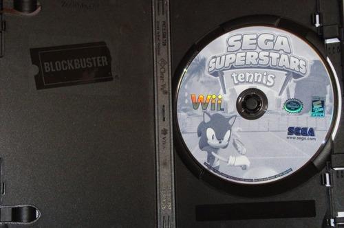 juego original sega surpestar tennis wii solo disco ntsc gam