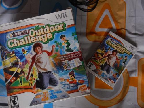 juego original wii active life outdoor challenge alfombra