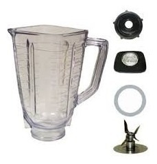 juego oster vaso licuadora vidrio + base + cuchillas+tapa