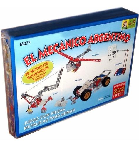 juego para armar metalico el mecanico argentino 222p. mecano