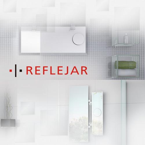 juego para baño vanitory moderno + espejo 40x60 reflejar