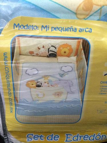 juego para cuna cama corral  chiquimundo, mi pequeña arca