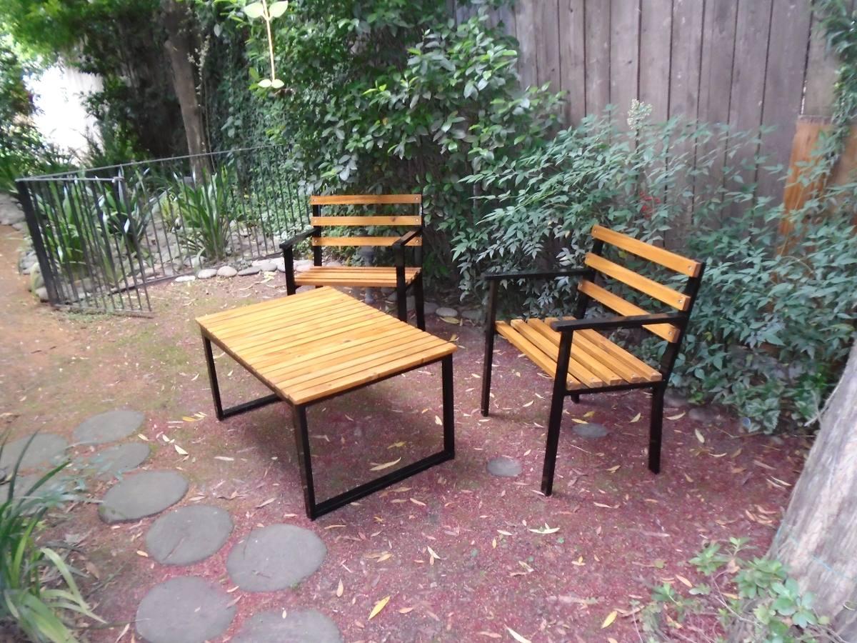 juego para jardin sillones y mesa ratona apto intemperie
