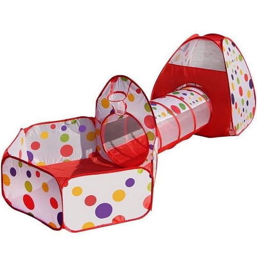 juego para niños tunel casa y piscina de pelotas