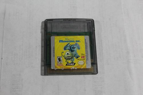 juego para nintendo game boy color monsters inc