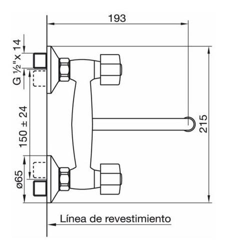 juego para pared de cocina arizona fv 409/b1p griferia