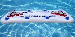 juego para piscina gopong / flotador guarda bebidas