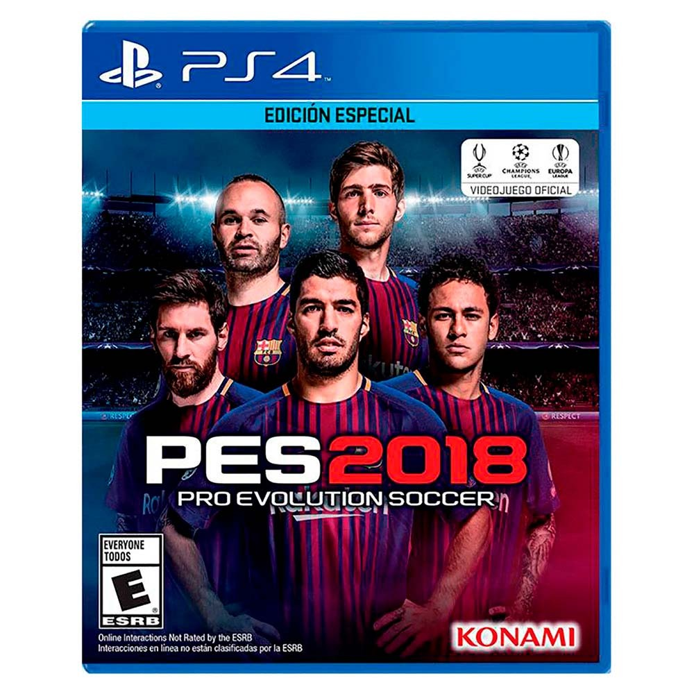 Juego Para Play Station 4 Ps4 Pro Evolution Soccer Pes 2018 880