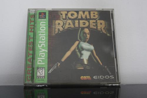juego para ps, tomb raider (greatest hits)
