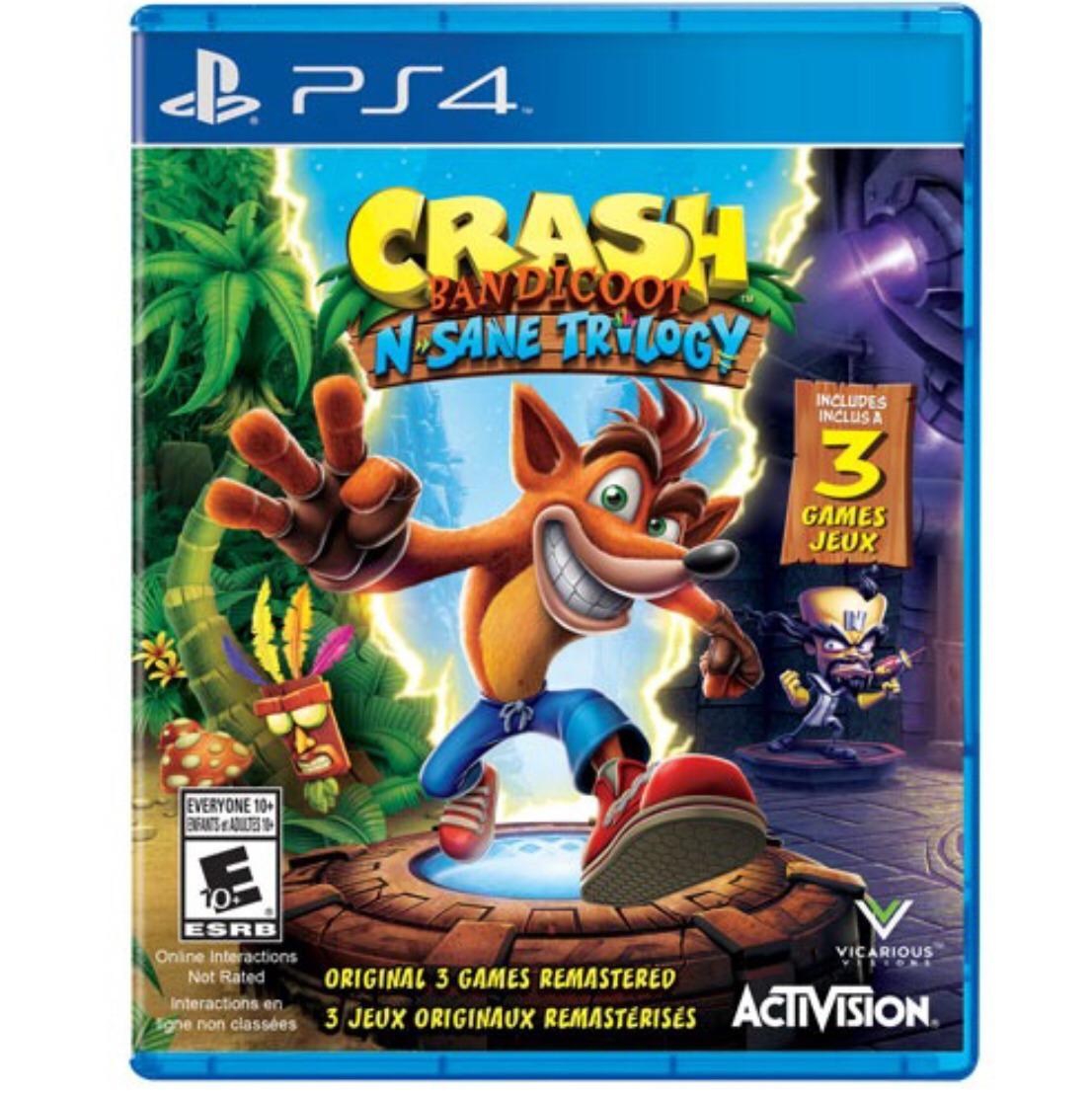 Juego Para Ps4 Crash Trilogy Nuevo Original S 105 00 En Mercado Libre