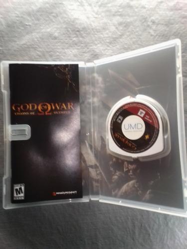 juego para psp god of war, chains of olympus  original