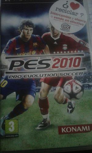 juego para psp pes2010