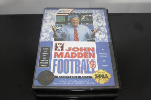 juego para sega genesis system, john madden football '93