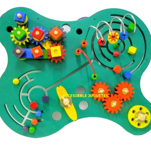 juego pared panel mesa prono multiactividad engranaj 60x55cm