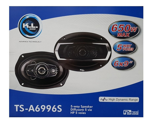 juego parlantes carro kl audio ts-a6996s ovalado 6x9 650w