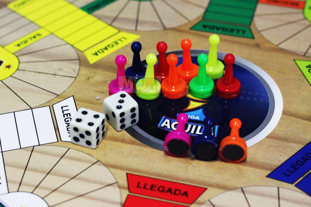 Juego Parqués 4 Puestos Y Escalera 42 X 42 Cm Casa Hogar ...