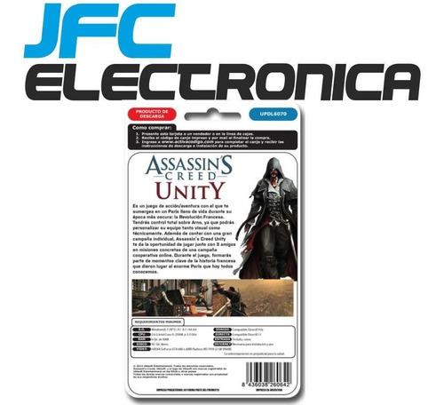 juego pc assassins creed unity original uplay digital