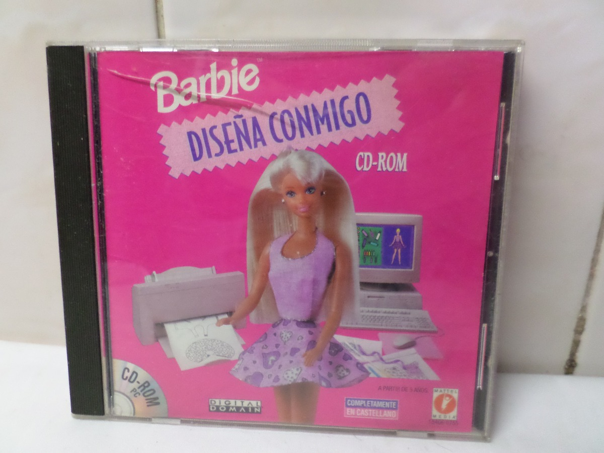 Juego Pc Barbie Disena Conmigo Cd Rom Windows 95 Mattel 220 00