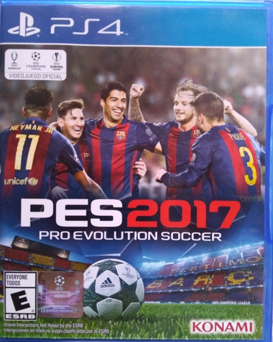 juego pes 2017. pro evolution soccer. ps4