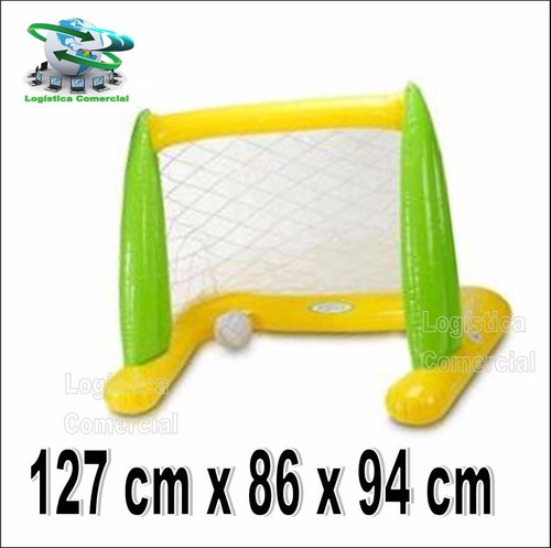 juego piscina cancha de futbol inflable + pelota intex 56507
