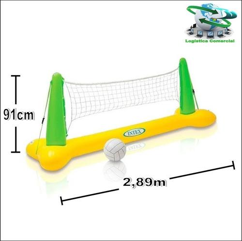 juego piscina cancha de voleibol inflable pelota intex 56508