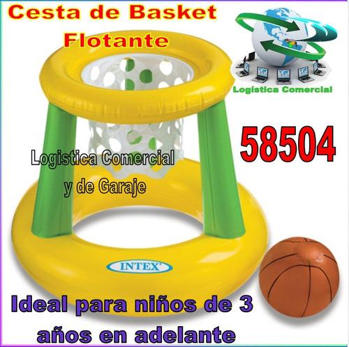 juego piscina cancha flotante basket inflable  58504 intex