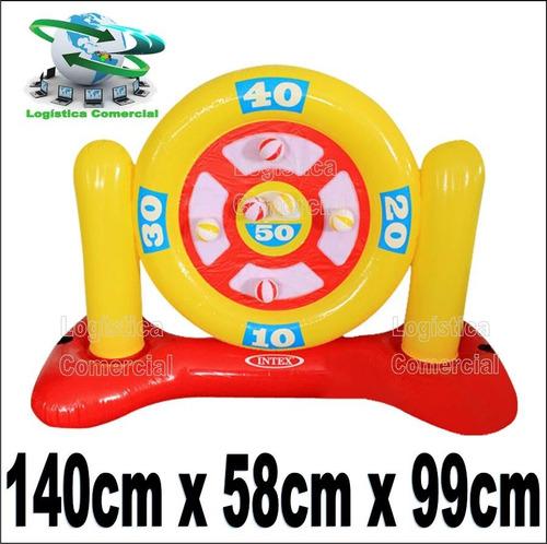 juego piscina dardos flotador inflable  velcro 56509 intx