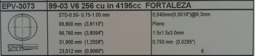 juego piston ford fortaleza pickup 4.2 motor 256 v6 f150 std