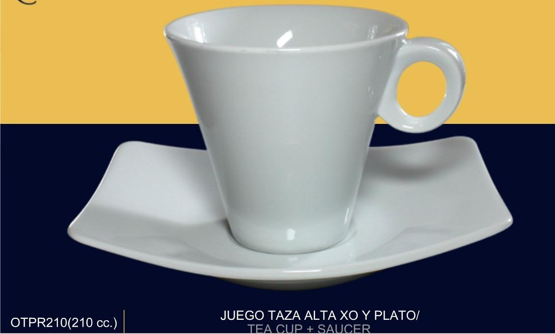 Juego plato taza para cafe d porcelana mod xo mkm for Juego tazas cafe