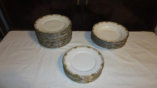 juego platos limoges francia antiguo diseño guarda vealo