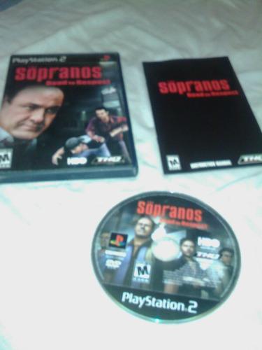 juego play station 2 sopranos
