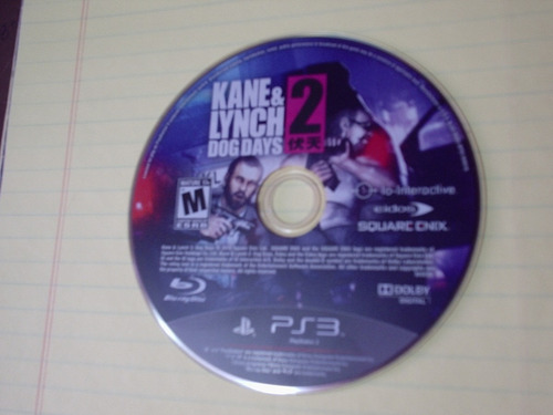 juego play station 3 ps3 kane & lynch dog days 2 disco mdn