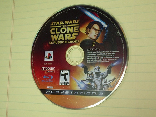 juego play station 3 ps3 star wars clone wars  disco mdn