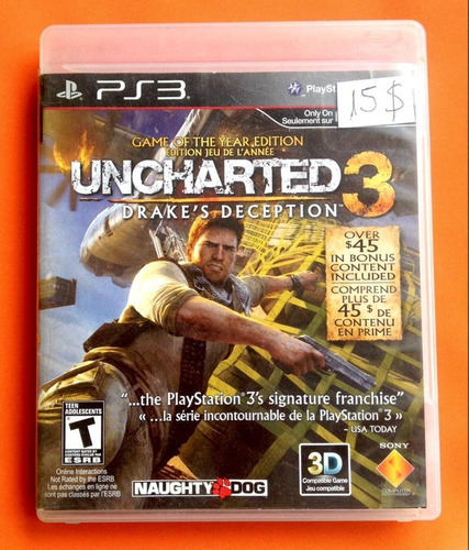 juego playstation 3 ps3 uncharted 3 i5 verde imperiales