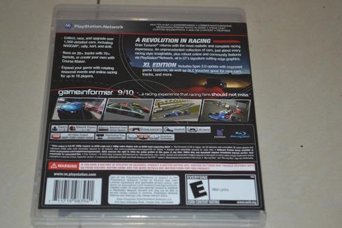 juego playstation gran turismo ps3